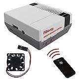 MakerFun Piboxy NES Case con Ventilador y botón de reinicio y Apagado Seguro y Mando a Distancia IR para Raspberry Pi2B/3B/3B+ (Piboxy)