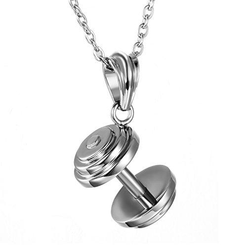 OIDEA - Colgante de fantasía para hombre, color plata de acero inoxidable, con bolsa de regalo