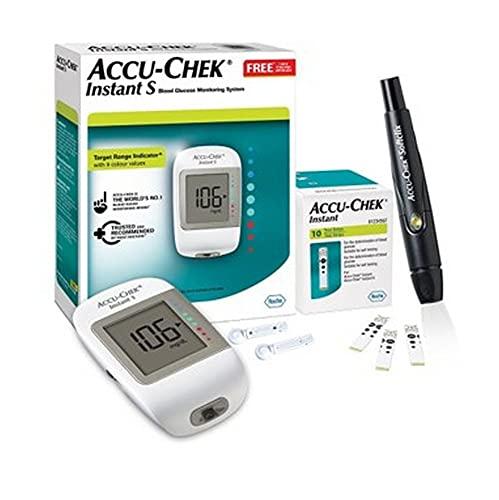 Accu-Chek Instant S Blood Glucose Glucometer Kit...