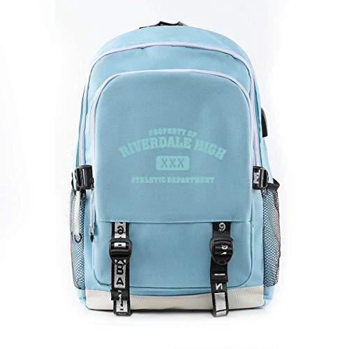 CQW Riverdale Mochila Impresa Mochila portátil para Hombres y Mujeres Bolsa de Viaje al Aire Libre Bolsa de computadora Mochila Escolar para Estudiantes (20)