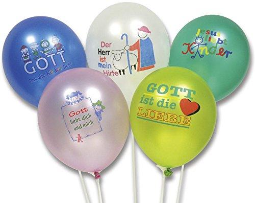 Uljö °° Luftballons 25er Pack, 5 verschiedene Motive