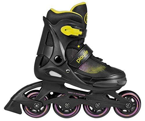 Playlife Joker Blue Sky verstellbare Inline Skates Kinder schwarz-gelb Black-Yellow-pink, 37-40