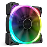 NZXT AER RGB 2 - HF-28120-B1 - 120mm - Advanced Lighting Customizations - Winglet Tips - Fluid Dynamic Bearing - LED RGB PWM Fan for Hue 2 - Single (HUE2 Lighting Controller Not Included) , Black