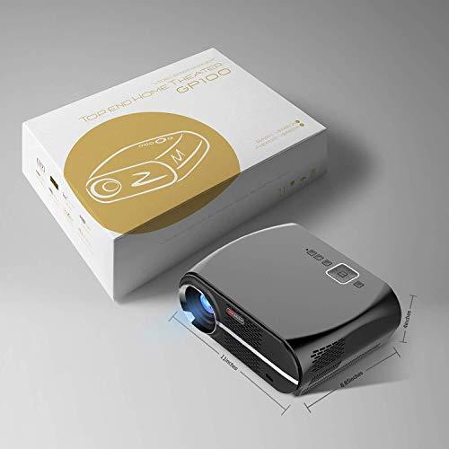 jkl Mini proyector pequeño de 3200 lúmenes - El proyector LED Full HD es Compatible con 1080P, 180 Pulgadas, proyector de Diapositivas/Cine en casa - Soporte para WiFi y Sistema Android 6.0