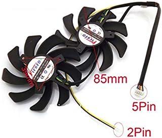 QHXCM for 2pcs/Lot FDC10H12S9-C 85mm 12V 0.35A VGA Fan For ASUS POSEIDON-GTX770 GTX780 GTX980-P Graphics Card Cooling Fan Cooler