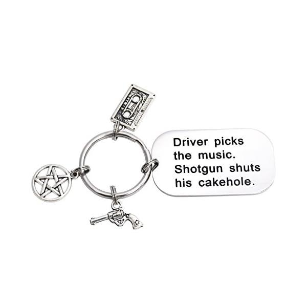 LParkin Driver Picks The Music Shotgun Shuts His Cakehole Supernatural Keychain