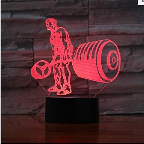 Motorcycle 3D Visual Lamp Couleurs Change Illusion d'optique Touch Table Desk Led Night Light Great Kids Gifts Décoration de la maison