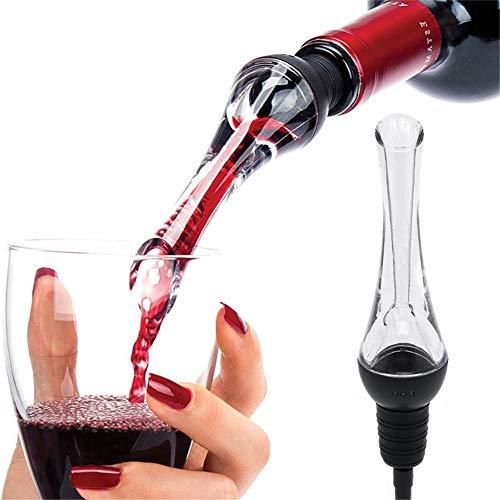 LVJUNQ Vertedor de aireador de Vino Premium, Uso de Materiales respetuosos con el Medio Ambiente de Calidad alimentaria, Conveniente y Efectivo, Adecuado para familias, oficinas, restaurantes