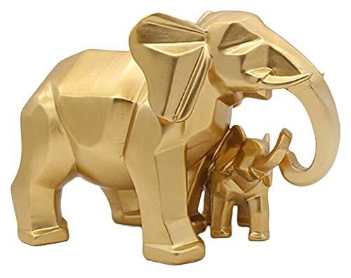 Escultura de escritorio Elefante Madre y bebé Estatua de resina Escultura Escultura...