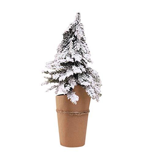 Higlles Weihnachten PE-Simulation Schneeflocke Mini Christbaumschmuck Weihnachten Dekoration 4 Größen