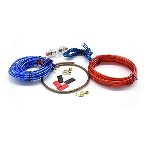takestop Kit complet de câbles d'alimentation RCA pour amplificateur audio de voiture