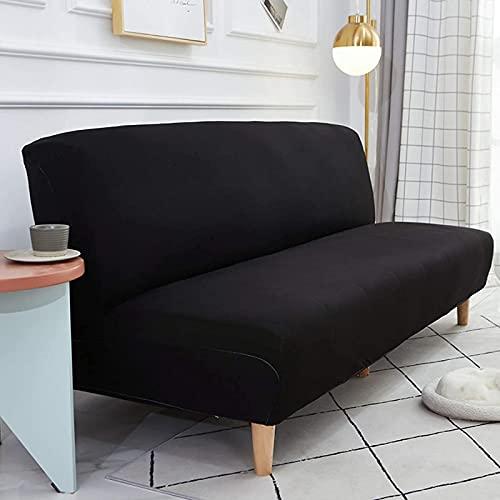 JYHQ Fundas de sofá de color sólido sin reposabrazos, funda de asiento de sofá cama sin brazos para sala de estar, protector de sofá (grande de 122 a 188 cm)