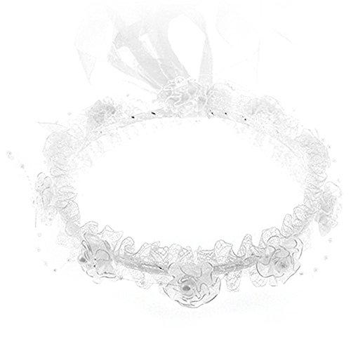 Gemini _ Mall Filles Enfants fausses perles ruban de dentelle floral Fleur de mariage Serre-tête Bandeau