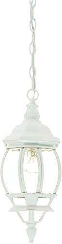 discount Acclaim 2021 5056TW Chateau Collection 1-Light Outdoor Light Fixture online sale Hanging Lantern, Textured White sale