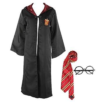 wjjoy Harry Robe Potters Gryffindors Unisex Child Adult Halloween Cosplay Costume Adult S  Black