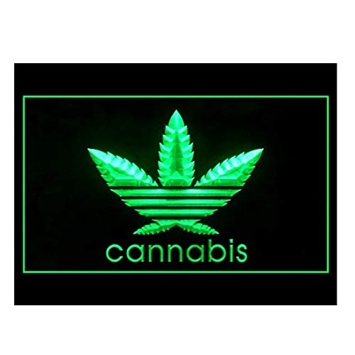 Lamazo Cannabis Marijuana - Señal de luz LED, diseño de Marihuana