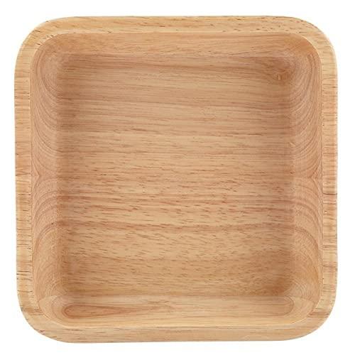 Bandeja de comida Plato de cena de madera no tóxico Ecológico Plato de sushi de alta calidad Café saludable Restaurante(24 * 24 * 4.5cm)