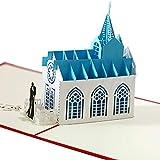 Cartolina d'auguri tridimensionale della chiesa di nozze 3D