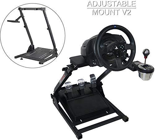 HIRAM Supporto per Volante Simulatore di Guida Regolabile Supporto da Corsa per Logitech G25, G27, G29, G920