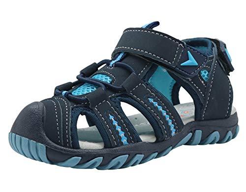 Apakowa Kid s Boy s Soft Sole Close Toe Sport Beach Sandals (Toddler Little Kid) (Color : Blue, Size : 6 M US Toddler)