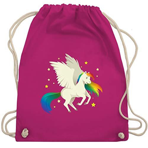Comic Shirts - Pegasus - Unisize - Fuchsia - geschenk mädchen einhorn - WM110 - Turnbeutel und Stoffbeutel aus Baumwolle