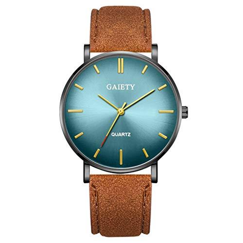 Analog Quarz ultradünn Classic Minimalistisches Design Armbanduhr für Herren, Skxinn Herrenuhren,Männer Business Fashion Einfach Armbanduhren mit Kunstlederband, Ausverkauf(W)