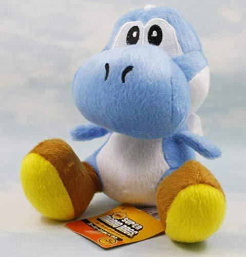 pluche pop Super Mario Bros Yoshi knuffels 15 cm 9 kleuren zitten Yoshi pluche kinderen pluche pop voor cadeau d blauw