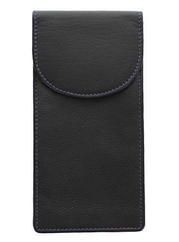 Mala Leather Odyssey Doble Funda de Gafas de Cuero Suave 560_14 Negro