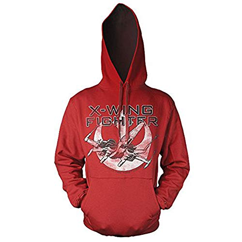 Officiellement Marchandises sous Licence X-Wing Fighter Hoodie (Rouge), Small