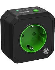 ANSMANN Timer stopcontact AES1 - schakelbaar energiebesparend stopcontact met countdown timer voor ventilatorkachels, strijkijzer, koffiezetapparaat, wasmachine enz. (tijdsinterval naar keuze) - zwart