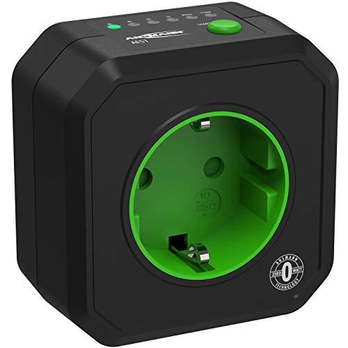 ANSMANN Presa AES1 a Timer programmabile - Presa temporizzata con spina Schuko per programmare elettrodomestici da 15min a 8h - Indicatore LED