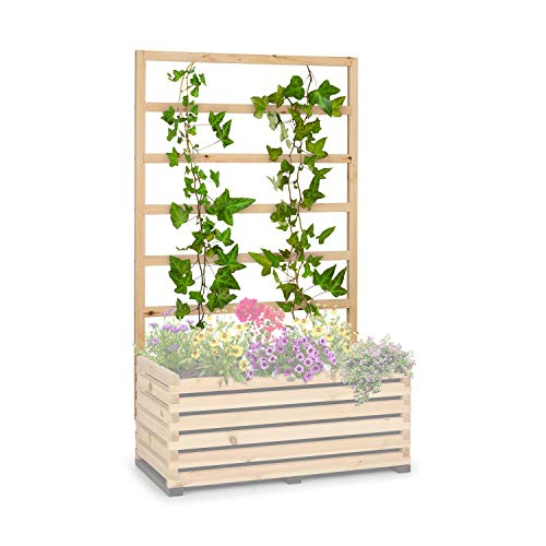 blumfeldt Modu Grow 100 - UP trellis, Dimensions: 151 x 100 x 3 cm (H x W x D), Pergola, Climbing Aid for Climbing Plants, Plant Ladder, Oiled, Pine Wood, Made in Europe - Pine