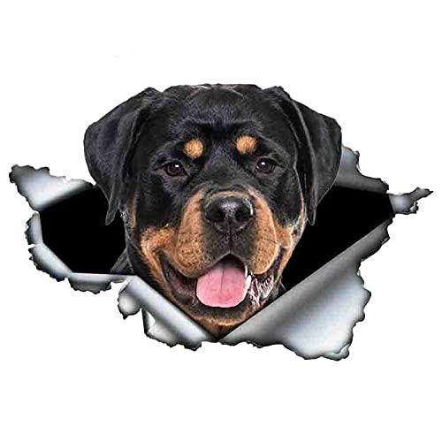 Divertido Rottweiler PET PET PEQUEÑO PEGRAMA DE COCHE A prueba de agua Precioso Decoración Laptop Oraptycle Auto Accesorios Decoración PVC, 13cm * 8cm (Color Name : Style E)