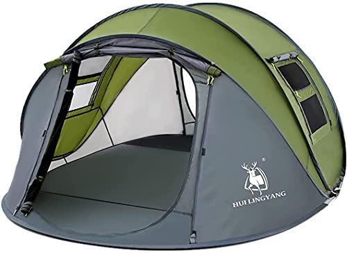 Tende pop-up 3 ~ 4 persone uomo famiglia tenda istantanea Pop Up tenda traspirante campeggio esterno verde