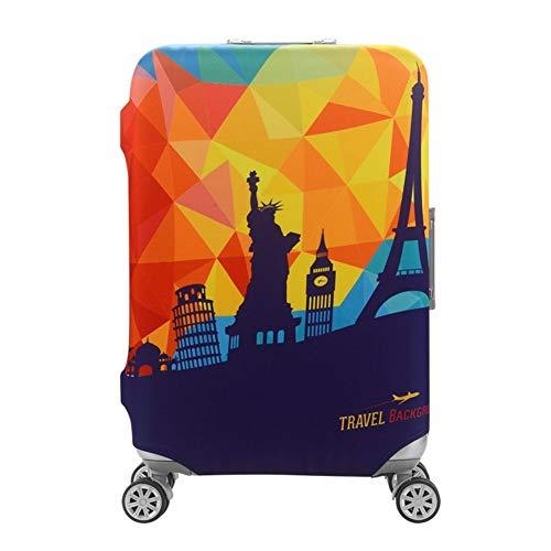 Wasserfeste Print Trolley Case Schutzhülle für 30/31/32 Gepäck waschbar Hülle Travel Suitcase Protector XL World Travel