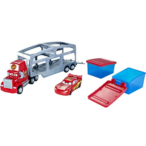 Disney- Cars Mack Trasportatore Cambia Colore, Playset con Veicolo Saetta McQueen Incluso, CKD34