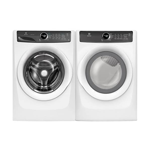 Electrolux White Front Load Laundry Pair with EFLW427UIW 27″ Washer and EFME427UIW...