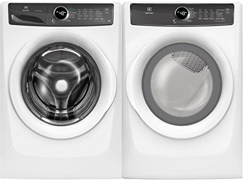 "Electrolux White Front Load Laundry Pair with EFLW427UIW 27"" Washer and EFME427UIW 27"" Electric Dryer"