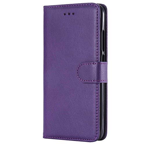 Bear Village® Hülle für Xiaomi MI 5X, Flip Leder Handyhülle Tasche mit Kartensfach, TPU Innere Ledertasche, 360 Grad Voll Schutz, Violett