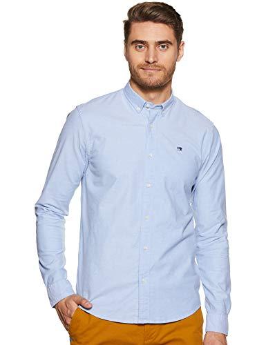 Scotch & Soda Herren Oxford Shirt Regular Fit Button Down Collar Freizeithemd, Blau (Blue 0765), Large (Herstellergröße:L)