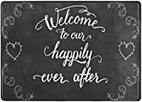 私たちの幸せなアフターエリアラグ、リビングダイニングルームのベッドルームキッチン用ラグ、5'X7'保育園ラグフロアカーペットヨガマットへようこそ