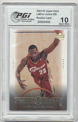 2003 Upper Deck LeBron James PGI 10 Cavaliers Rookie Card #28