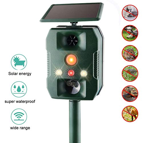 Wosiky Répulsif Solaire pour Chat, Mole Control Mole Control Animal Repeller Ultrasonic Outdoor Animal Hunter pour Lawn Garden Yards