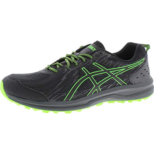 ASICS Men#039s Frequent Trail Running Shoes 11M Black/Green Gecko