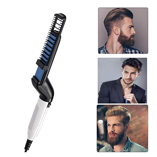 Hombres la Barba rápida enderezadora, Plancha de pelo barba flequillo para Los hombres, Peine alisador barba alisar funciona fijador peinar Rizador de pelo