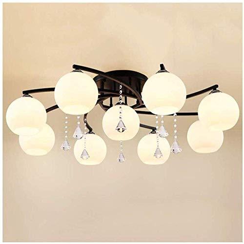 ZRABCD Salon, Plafonniers de Chambre À Coucher, Plafonnier En Fer Moderne Plafonnier de Plafond Salon Lampe Lumineuse Lumineuse Lampe Décorative,9 Têtes