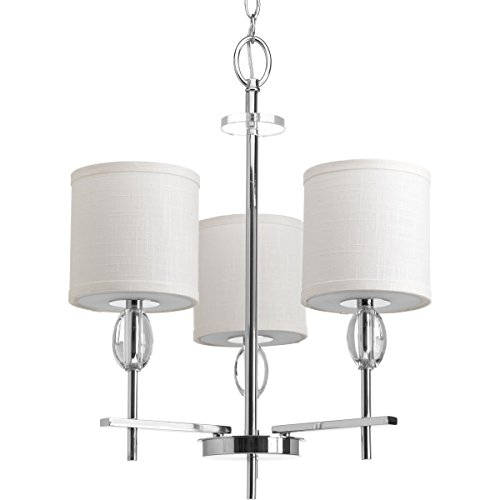 Progress Lighting P4140-15 Transitional Three Light Chandelier from Status Collection Finish, Polished Chrome