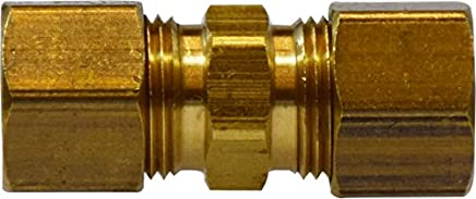 1//4 Tube OD 7//16-20 Tube Thread 0.49 Hex 1.35 Length 3250 psi Working Pressure Midland 28-966 Brass JIC 37 Degree Flare Straight Tube Union