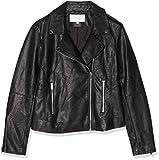 Vila Clothes Damen Vicara Faux Leather Jacket Jacke, Schwarz (Black Black), 36 (Herstellergröße: S)