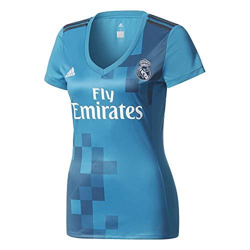 adidas 3 JSY W Camiseta, Mujer, Azul (azuint/gripur/Blanco), S